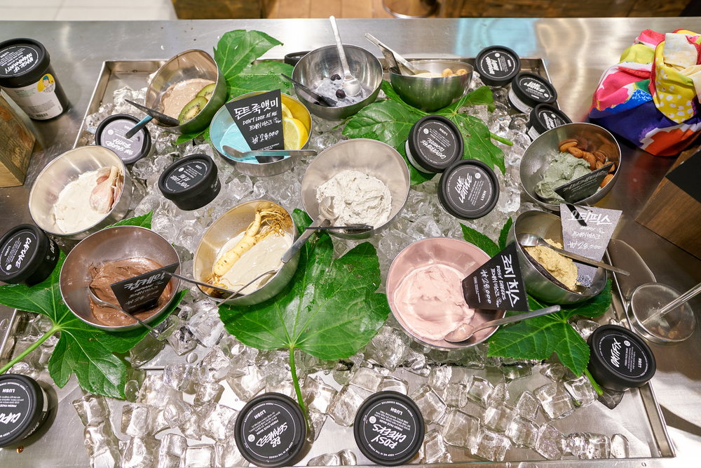Fresh face mask at Lush